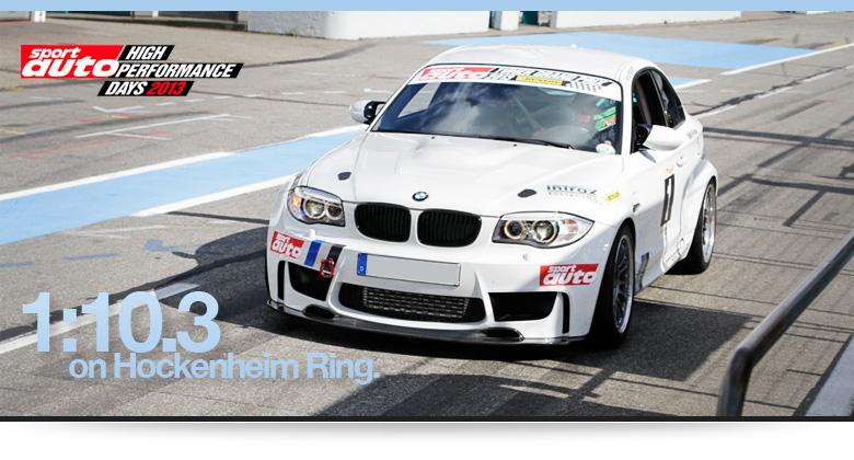 BMW 1M auf dem Hockenheim Ring
