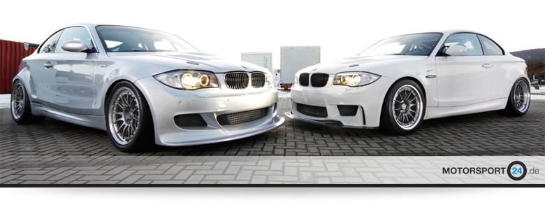 BMW 135i silber und BMW 1M weiß