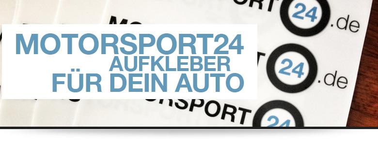 MOTORSPORT24 BMW M Tuning Aufkleber liegen auf dem Tisch