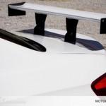 Detailansicht des verstellbaren Heckspoiler für BMW M3