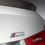 Detailaufnahme einer silbernen BMW M3 CRT Sondermodell Heckklappe